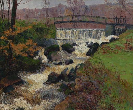 Gustave LOISEAU - Pintura - La cascade