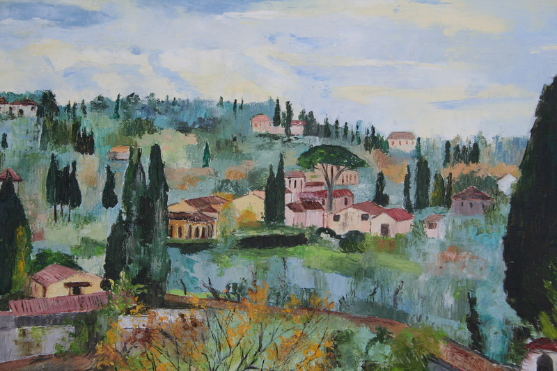 Monique DEVALOIS - Peinture - Paysage de Toscane