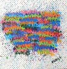 PIMAX - Painting - Louis le Vandal (Monogramme blanc), 2014