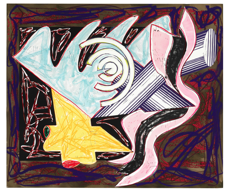 Frank STELLA - Print-Multiple - A Hungry Cat Ate up the Goat