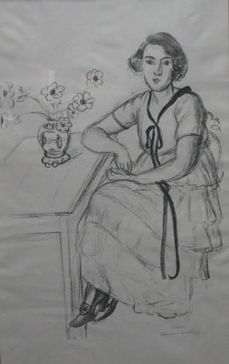 亨利·马蒂斯 - 版画 - La Robe Jaune Au Ruban Noir
