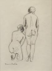 Francis PICABIA - Dibujo Acuarela - Nus de dos