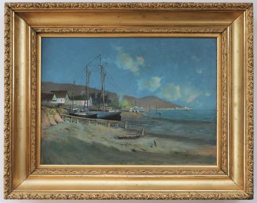 William HUBACEK - Pittura - San Francisco Bay near the Golden Gate