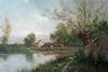 Vincent MANAGO - Pittura - Paysage au bord de l'eau