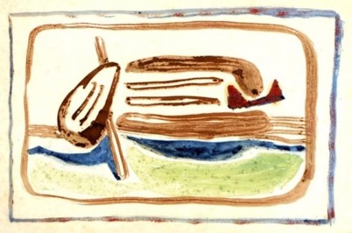 Jankel ADLER - Dibujo Acuarela - Still Life