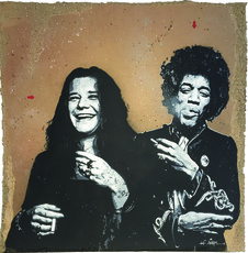 JEF AÉROSOL - Painting - Janis and Jimmy