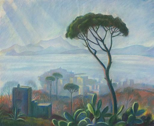 Theodor ALLESCH-ALESCHA - Dibujo Acuarela - Pozzuoli