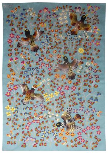 René PERROT - Tapestry - Oiseaux