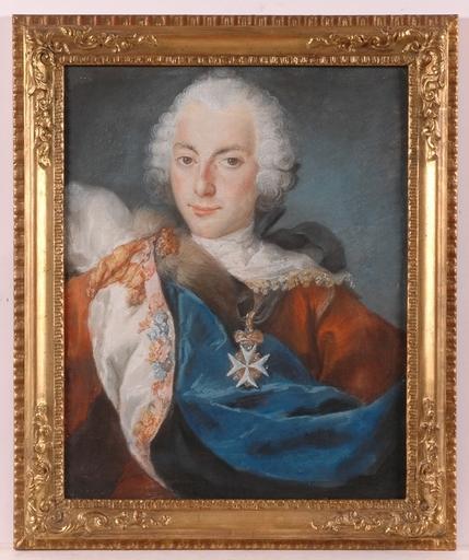 """Gustaf LUNDBERG - Peinture - """"Duke Karl of Soendermanland"""", ca. 1780, Pastel"""