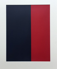 Amédée CORTIER - Painting - Blauw-Rood