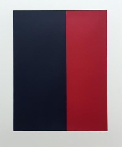 Amédée CORTIER - Peinture - Blauw-Rood