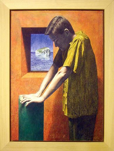 Roberto GONZÁLEZ FERNÁNDEZ - Painting - Todo comienza aquí, donde te clavas
