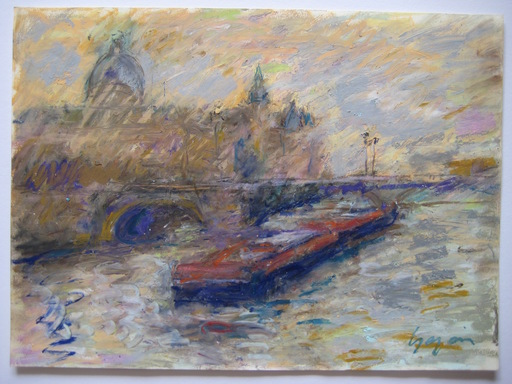 Pierre GOGOIS - Drawing-Watercolor - DESSIN AU PASTEL GRAS SIGNÉ SIGNED PASTEL DRAWING