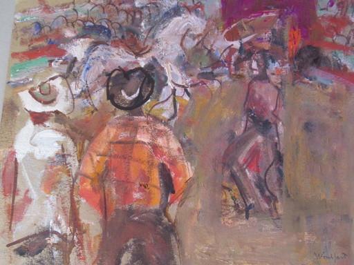 Marius WOULFART - Drawing-Watercolor - Scène de cirque