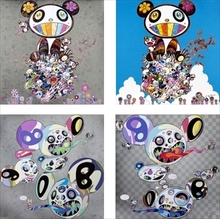 Takashi MURAKAMI - Print-Multiple - a group of four offset lithographs in colours