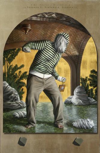 Jesus HERRERA MARTÍNEZ - Painting - De poetas y traidores. Letanía I