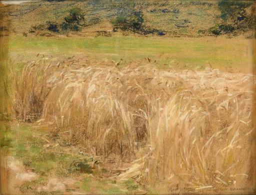 Léon Augustin LHERMITTE - 水彩作品 - Les blés