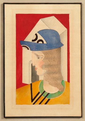 Joseph CSAKY - Drawing-Watercolor - Tête de femme de profil