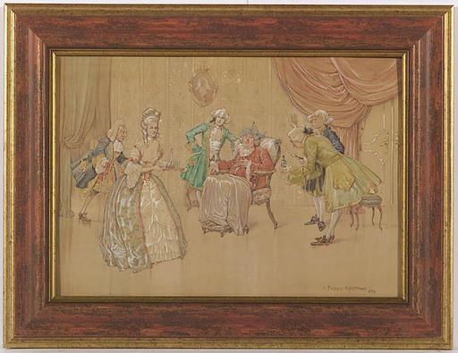 "Carl FISCHER-KÖYSTRAND - Dibujo Acuarela - ""Best Medicine"", Watercolor"