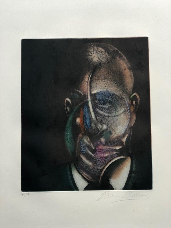 Francis BACON - Estampe-Multiple - Portrait Michael Leiris