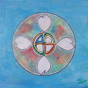 ATCHAMA - Painting - fleur de sagesse