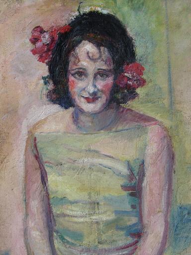 """Suzanne CAPPIELLO - Pintura -  Mme.  Cappiello  """"Autoportrait """""""