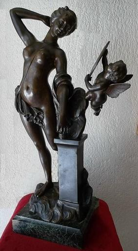 Louis CHALON - Escultura - Vénus au miroir