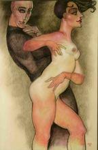 Juárez MACHADO - Drawing-Watercolor - Le couple