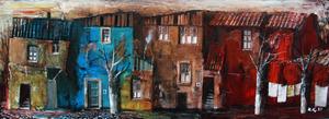 Zurab GIKASHVILI - Peinture - Small houses