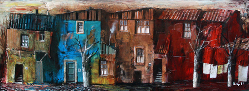 Zurab GIKASHVILI - Painting - Small houses