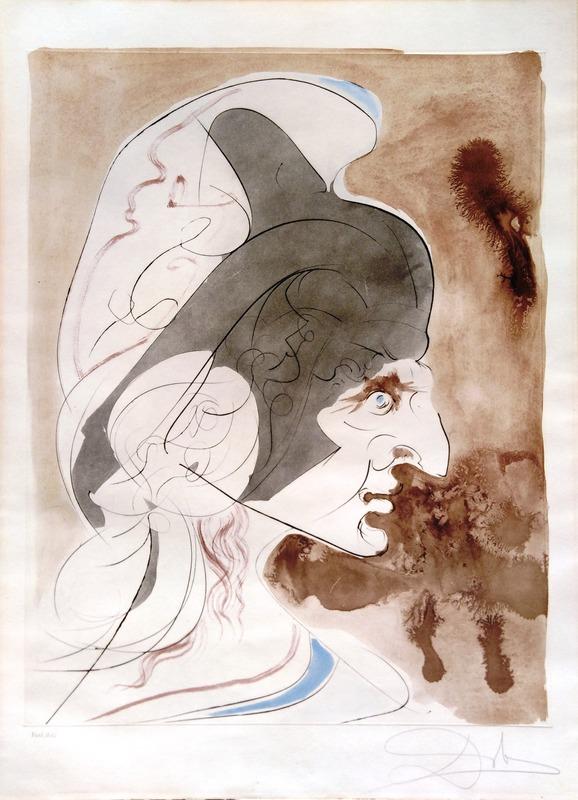 萨尔瓦多·达利 - 版画 - Tribute to Leonardo: Condottiere