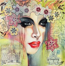 Sylvie ABADIE-BASTIDE - Painting - Voyageuse II