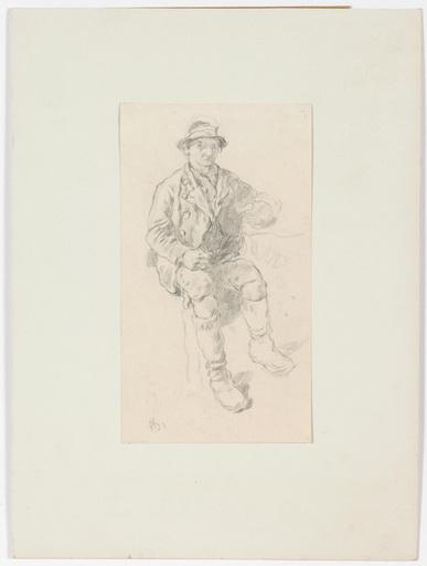 "Anton SCHRÖDL - Disegno Acquarello - Anton Schroedl (1823-1906) ""Pinzgau peasants"" two drawings"