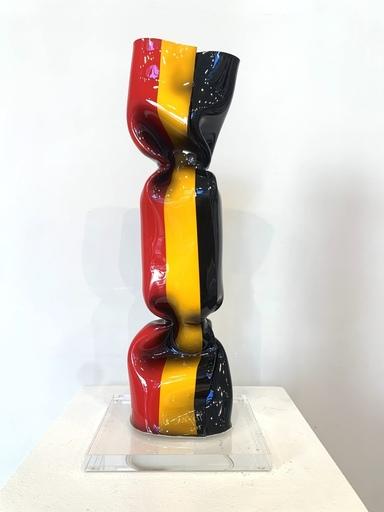 Laurence JENKELL - Escultura - Wrapping Bonbon - Drapeau Belge N 4698, 2019