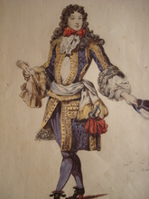 Eugène DEVÉRIA - Dibujo Acuarela - Monsieur    Le Prince de Conti