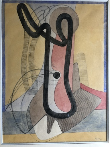 Auguste HERBIN - Drawing-Watercolor - Sans titre