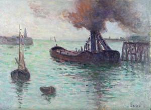 Maximilien LUCE, Honfleur, l'entrée du port
