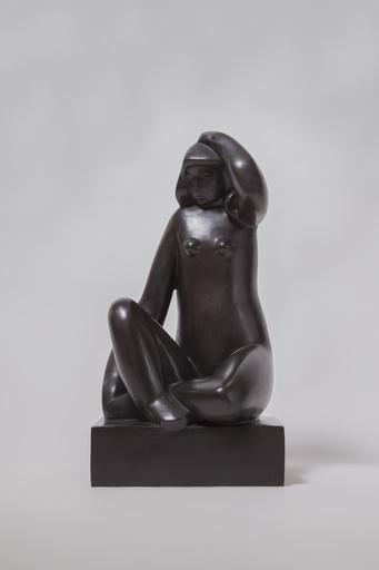 Joseph CSAKY - Sculpture-Volume - Femme assise main sur la tête