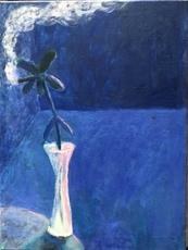 Scott REEDER - Pittura - Smoking Flower (Blue Room)