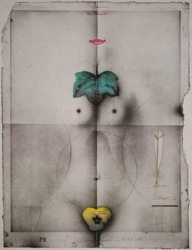 Paul WUNDERLICH - Print-Multiple - Stiefmütterchen und Efeublatt
