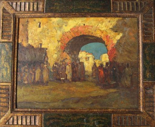 Charles DAGNAC-RIVIERE - Peinture - Door in Marakech - Morocco