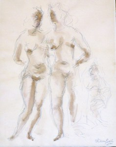 Models Pencil and Watercolor by | Chaim GROSS | buy art online