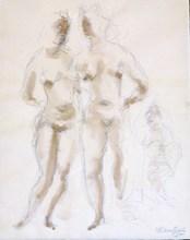 Chaim GROSS - Drawing-Watercolor - *Models Pencil and Watercolor