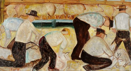 Giuseppe CESETTI - Pittura - Tosatura delle pecore
