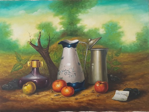 Antonio NUNZIANTE - Painting - Natura Morta
