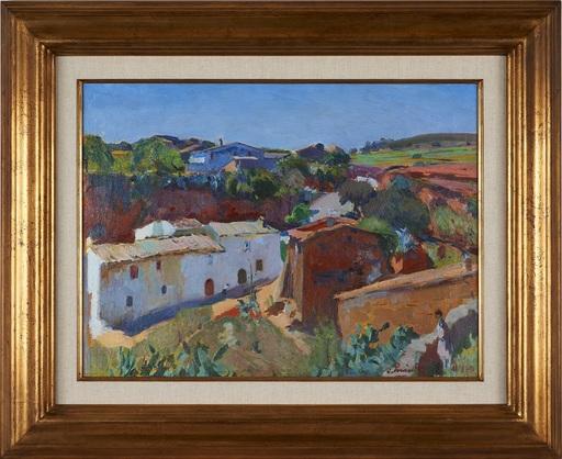 Joaquín MIR Y TRINXET - Painting - Sant Pere de Ribes vist desde el castell