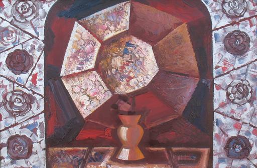 "Sergey BORISOV - Pintura - Bouquet ""The Form cubist"""