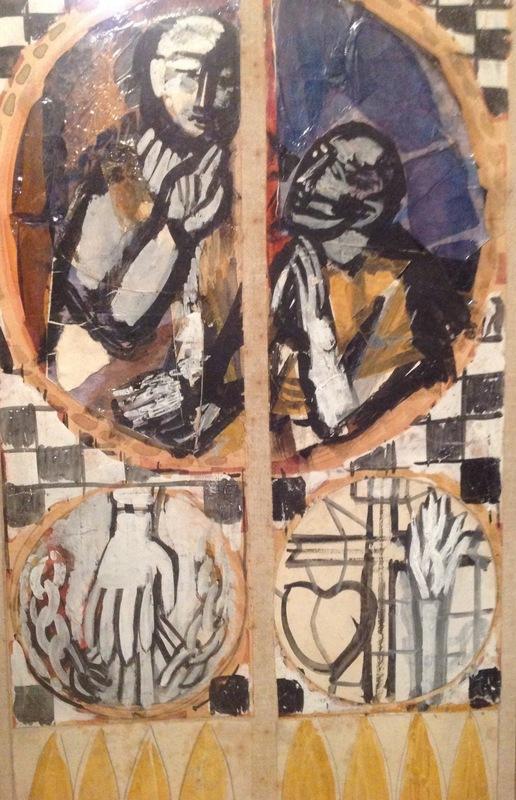 Bruno SAETTI - Pintura - Bozzetto per la vetrata di Chiesa di San Giovanni in Bosco