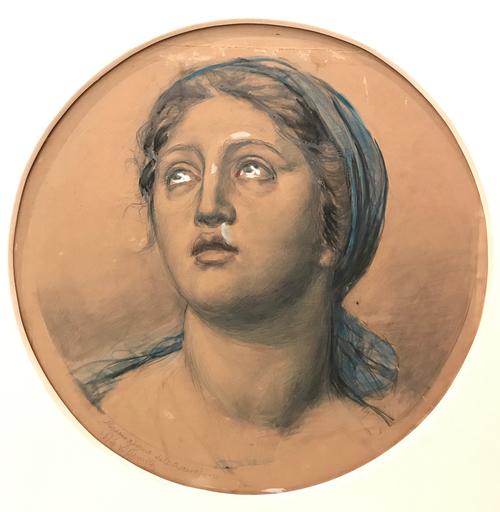 Vincenzo GEMITO - Painting - Ritratto di popolana, 1914