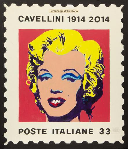 Guglielmo Achille CAVELLINI - Painting - PROGETTO DI FRANCOBOLLO PER IL MIO CENTENARIO
